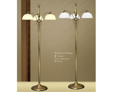 Lampa podłogowa z mosiądzu S-P3