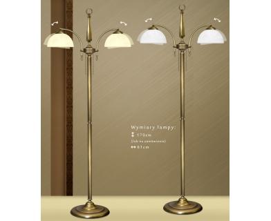 Lampa podłogowa z mosiądzu S-P2N