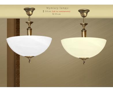 Lampa mosiężna z 1 kloszem S-S1A