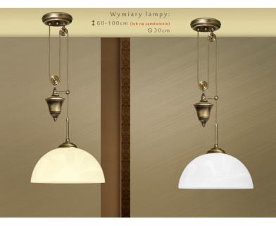 Mosiężna lampa z przeciwwagą S-S1P