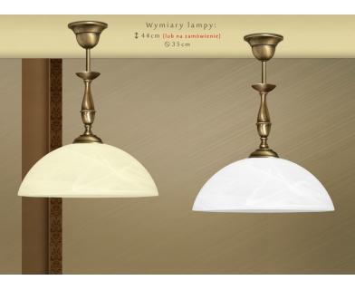 Lampa mosiężna z 1 kloszem S-S1C