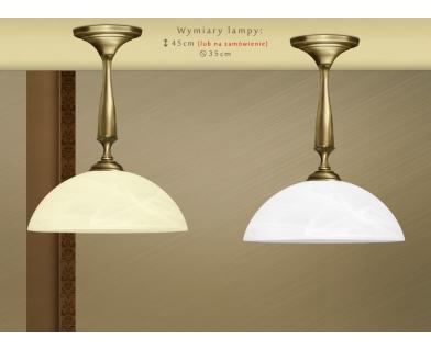 Niska lampa klasyczna z mosiądzu S-S1K