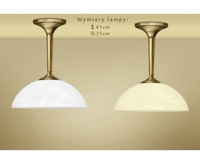 Krótka lampa wisząca mosiężna Y-S1CK