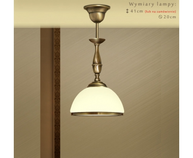 Lampa mosiężna z małym kremowym kloszem SR-S1CME