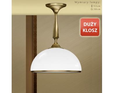 Lampa mosiężna z dużym kloszem SR-S1KD