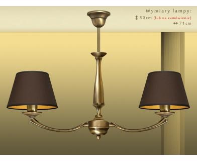Mosiężna lampa 2-punktowa PA-S2m