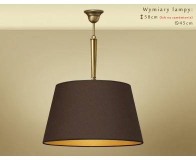 Lampa mosiężna z abażurem YA-S1C45M