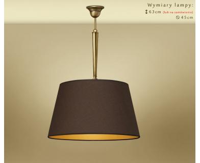 Lampa wisząca z dużym abażurem YA-S1m