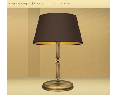 Wysoka lampa biurkowa z mosiądzu L-B2m