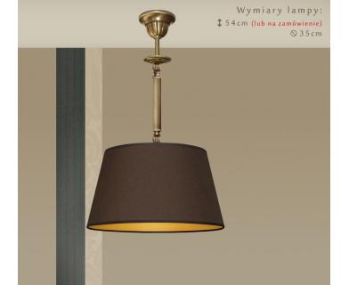 Lampa mosiężna z abażurem A-S1Bm