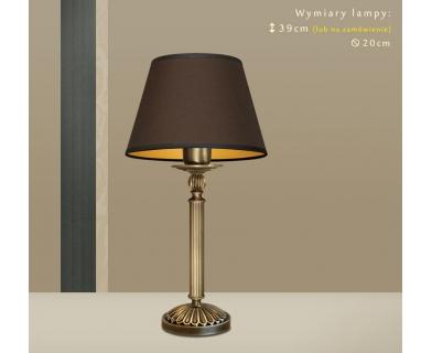 Lampa biurkowa z mosiądzu A-B1m