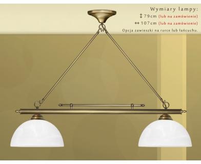Żyrandol mosiężny nad stół J-S2D30