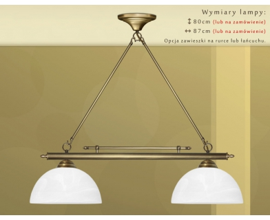 Żyrandol mosiężny nad stół J-S2M30
