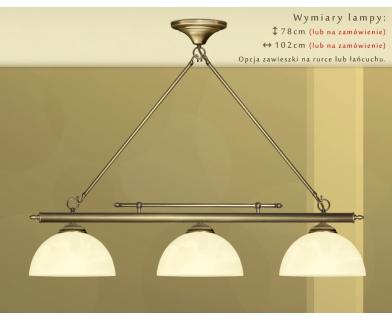 Mosiężna lampa 3-punktowa J-S3D25