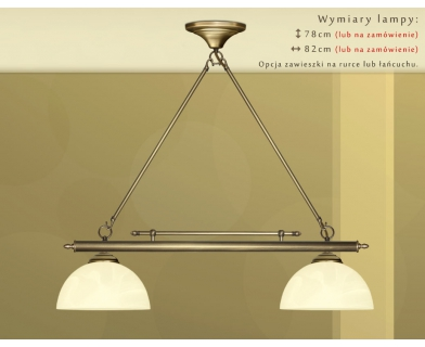 Żyrandol mosiężny nad stół J-S2M25
