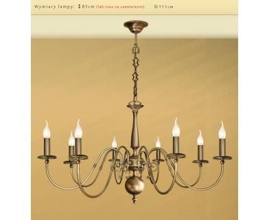 Lampa mosiężna ze świeczkami IK-8