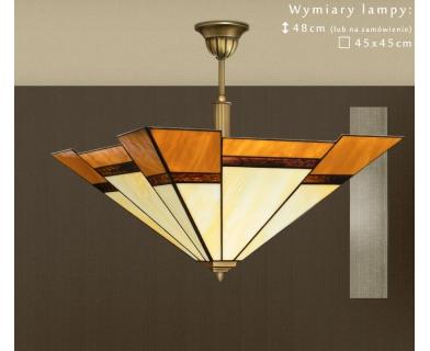Mosiężna lampa witrażowa O-S1AD