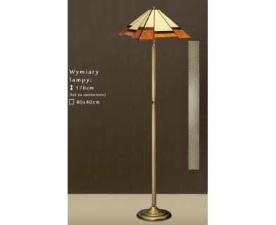 Lampa podłogowa witrażowa O-P1