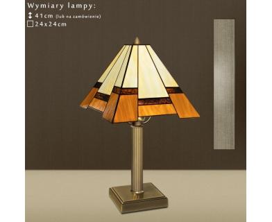 Lampa biurkowa witrażowa O-B1
