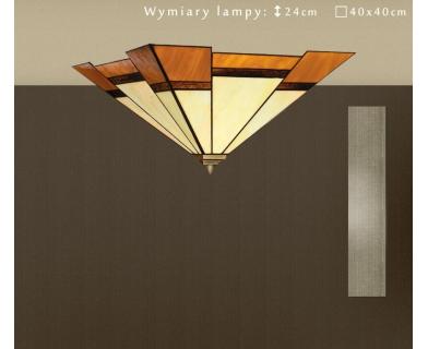 Plafon ze szkła witrażowego O-PL3
