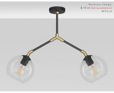 Mosiężna lampa nowoczesna czarno-złota TR-S2D