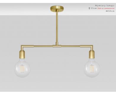 Dwupunktowa lampa mosiężna TZ-S2TL