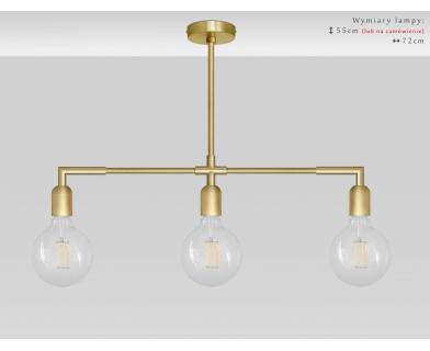 Nowoczesna lampa z mosiądzu nad stół TZ-S3XL