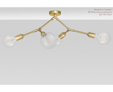 Złota lampa mosiężna do salonu TZ-S4K