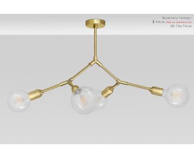 Designerska złota lampa mosiężna TZ-S4