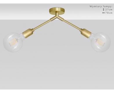 2-punktowa niska złota lampa sufitowa TZ-S2K