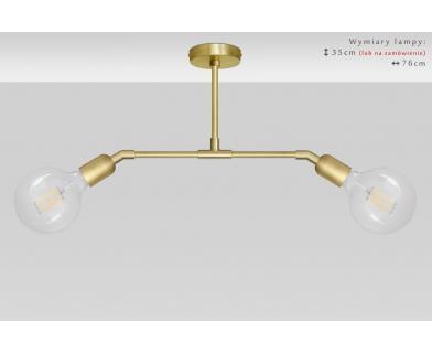 Złota lampa wisząca w nowoczesnym stylu TZ-S2TD