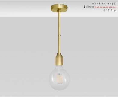 Złota lampa 1-punktowa mosiężna TZ-S1
