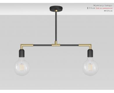 Nowoczesna lampa wisząca nad stół TZR-S2TL