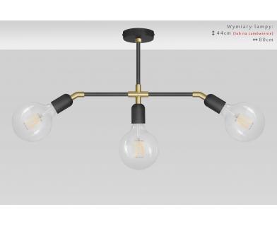 Lampa wisząca czarno-złota TZR-S3XD