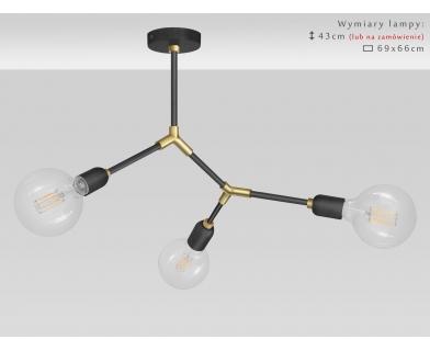 Lampa wisząca wykonana z mosiądzem TZR-S3