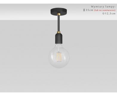 Nowoczesna krótka czarno-złota lampa TZR-S1K
