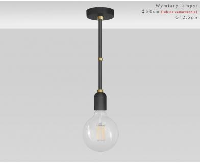 Czarno-złota lampa z mosiądzem TZR-S1