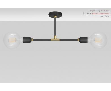 Lofotwa czarno złota lampa sufitowa TZR-S2T