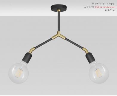 Lampa nowoczesna czarno-złota TZR-S2D