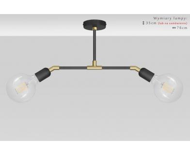 Niska nowoczesna lampa wisząca z mosiądzu TZR-S2TD