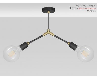 Lampa sufitowa czarno-złota TZR-S2