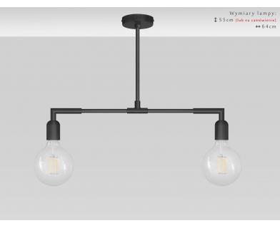 Czarna nowoczesna lampa nad stół TZC-S2TL