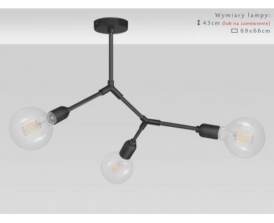 Czarna nowoczesna lampa wisząca TZC-S3