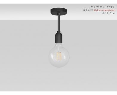 Niska czarna lampa TZC-S1K