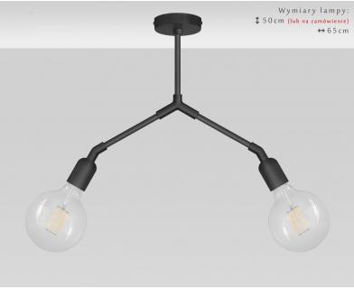 Oryginalna czarna lampa wisząca TZC-S2D