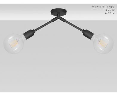 Krótka wisząca czarna lampa TZC-S2K