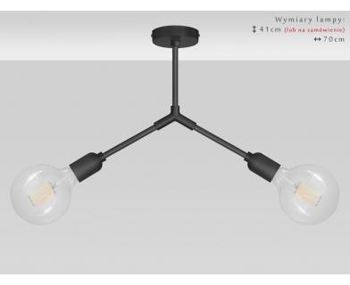 Czarna lampa wisząca TZC-S2
