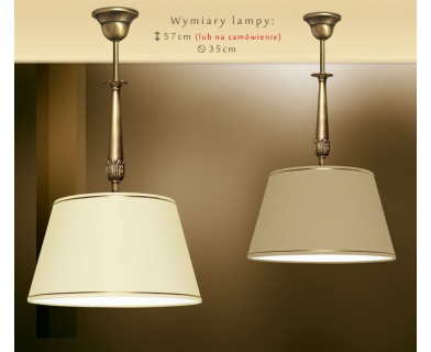 Lampa sufitowa mosiężna NA-S1B