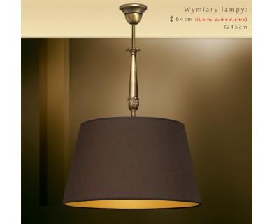 Lampa mosiężna z 1 abażurem NA-S1m