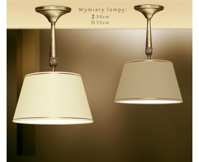 Sufitowa lampa mosiężna z abażurem NA-S1BK